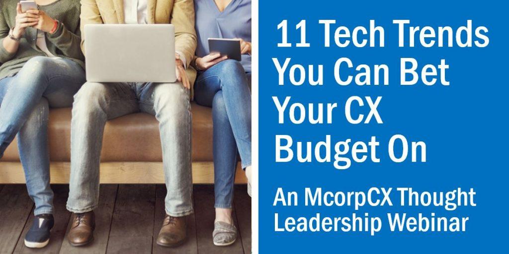 CX Tech Trends Webinar