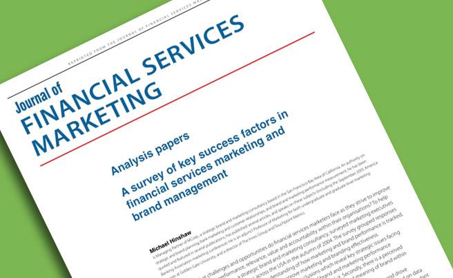 A Survey of Key Success Factors in Financial Services